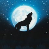 Vorbestellung Sweat Panel Wolf Moon 2.0 by Lycklig Design blau